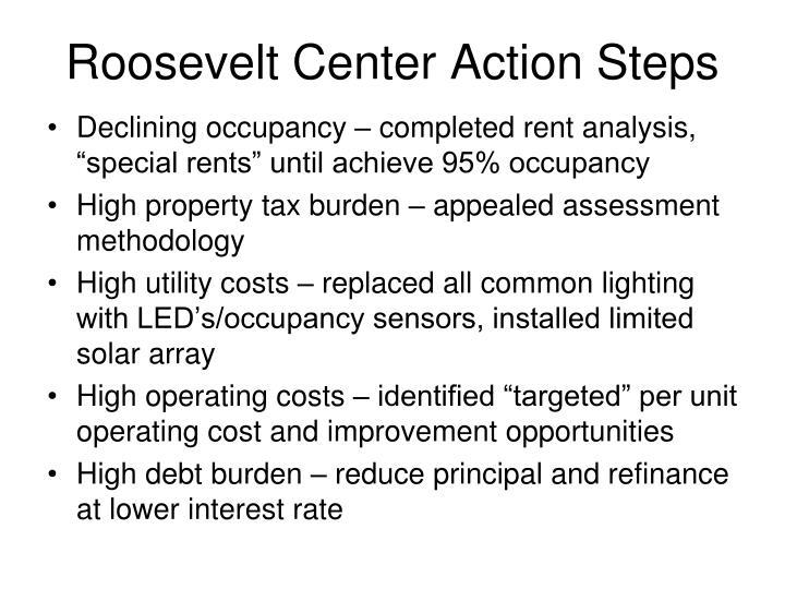 Roosevelt Center Action Steps
