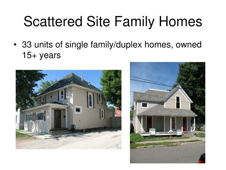 Scattered Site Family Homes