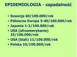 epidemiologia zapadalno