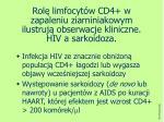 rol limfocyt w cd4 w zapaleniu ziarniniakowym ilustruj obserwacje kliniczne hiv a sarkoidoza
