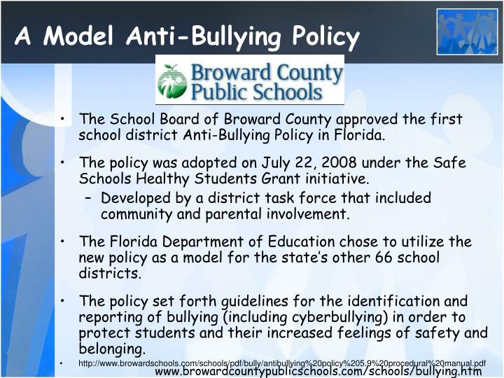 A Model Anti-Bullying Policy