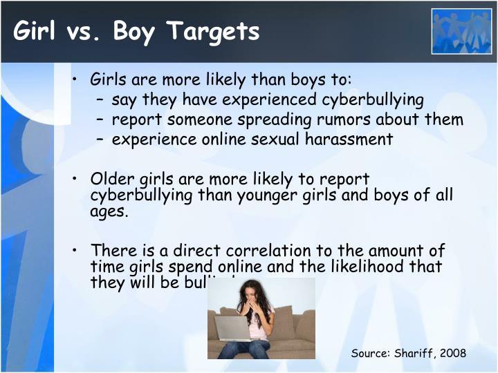 Girl vs. Boy Targets