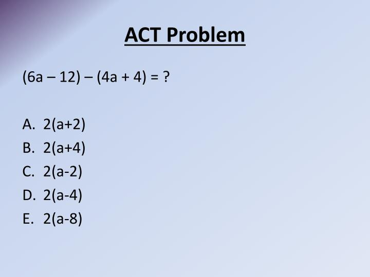 act problem n.