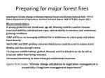 preparing for major forest fires