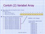 contoh 2 variabel array