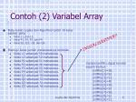 contoh 2 variabel array1