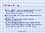 definisi array