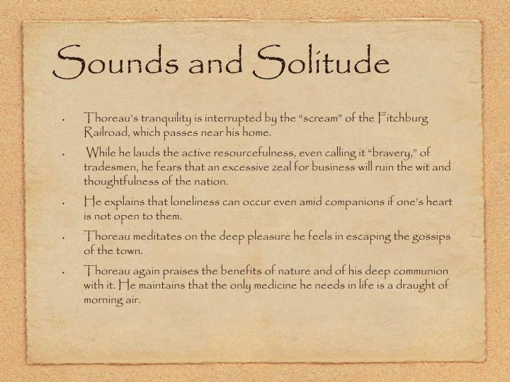Sounds and Solitude