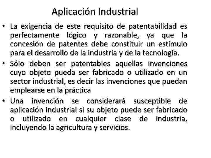 Aplicación Industrial