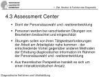 4 3 assessment center