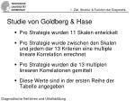 studie von goldberg hase