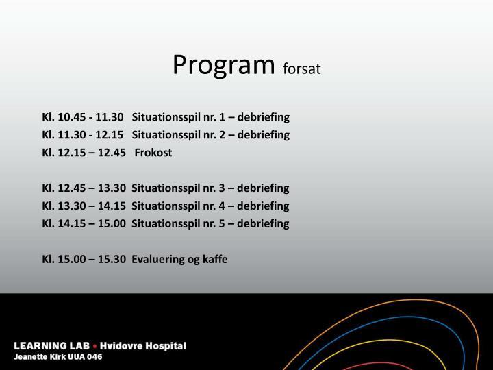 Program forsat