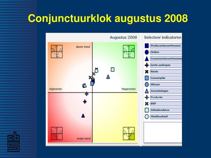 Conjunctuurklok augustus 2008