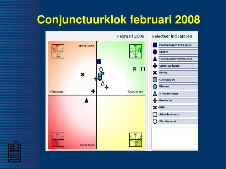 Conjunctuurklok februari 2008