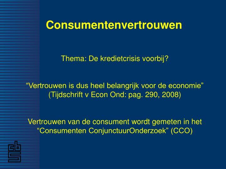 Consumentenvertrouwen1
