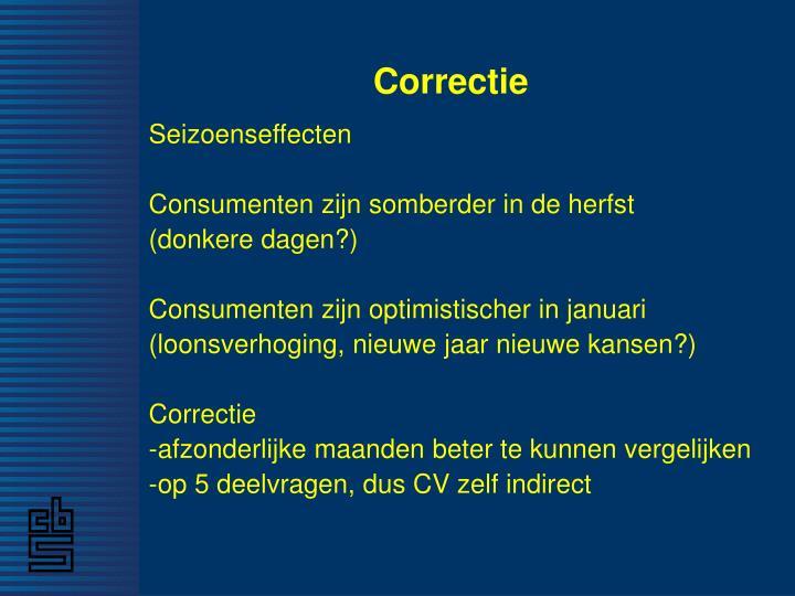 Correctie