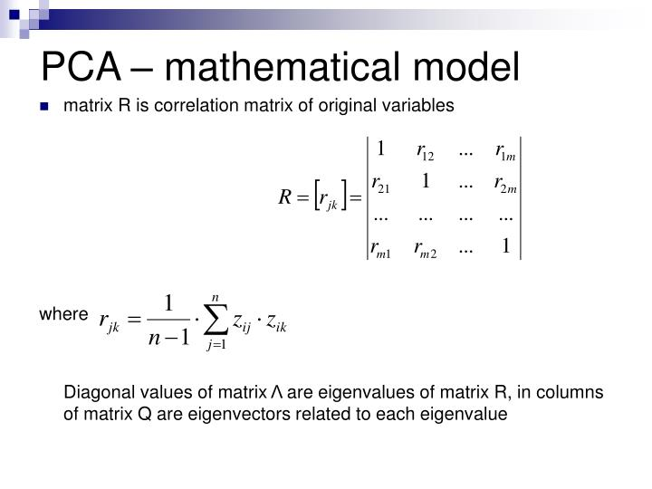 PCA – mathematical model