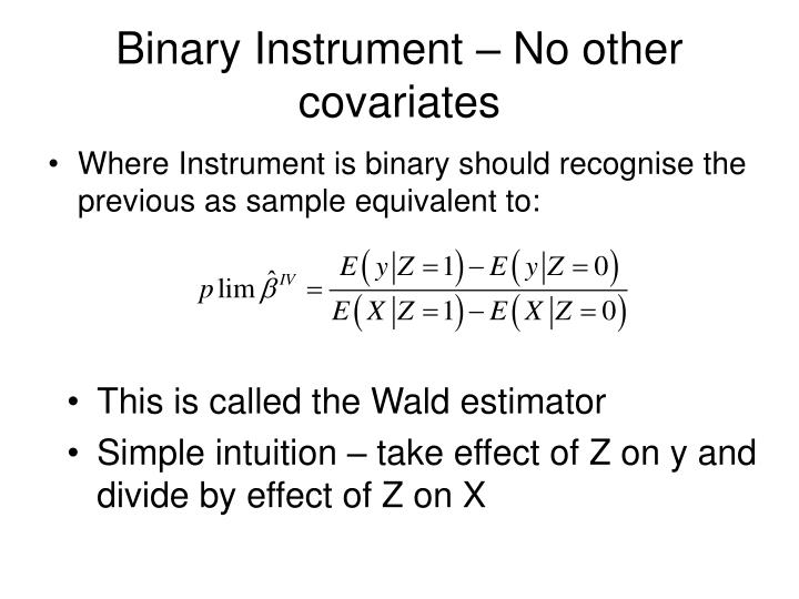 Binary Instrument – No other covariates
