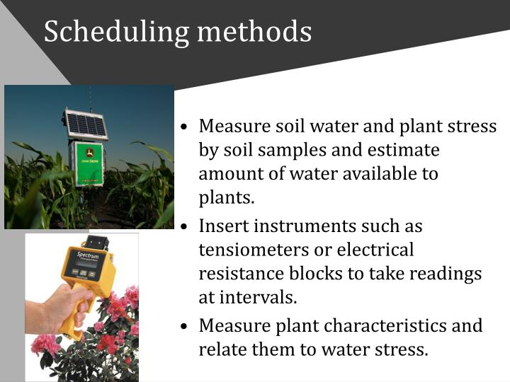Scheduling methods