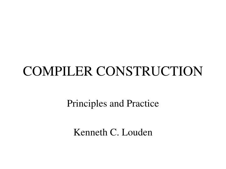 compiler construction n.