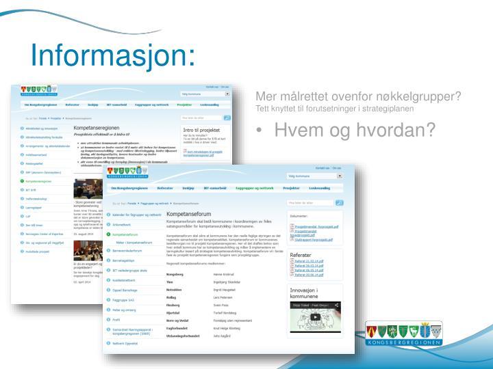 Informasjon: