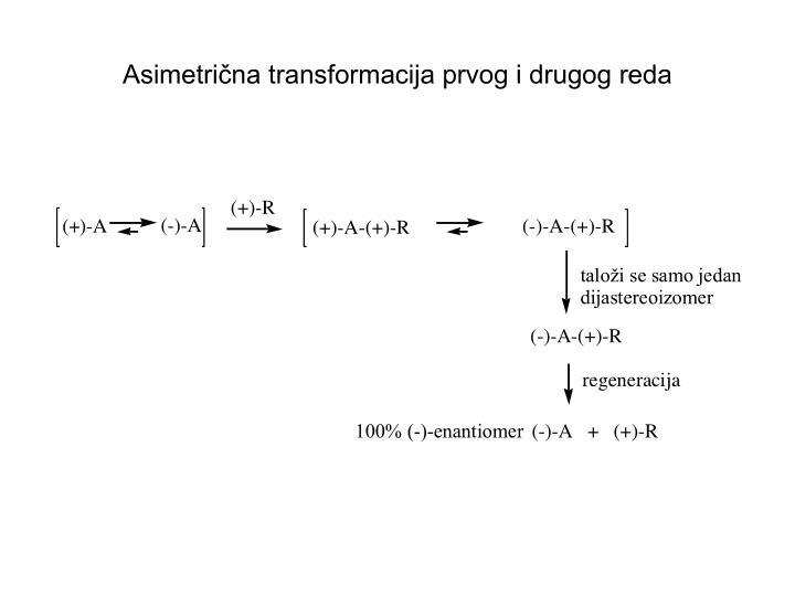 Asimetrična transformacija prvog i drugog reda