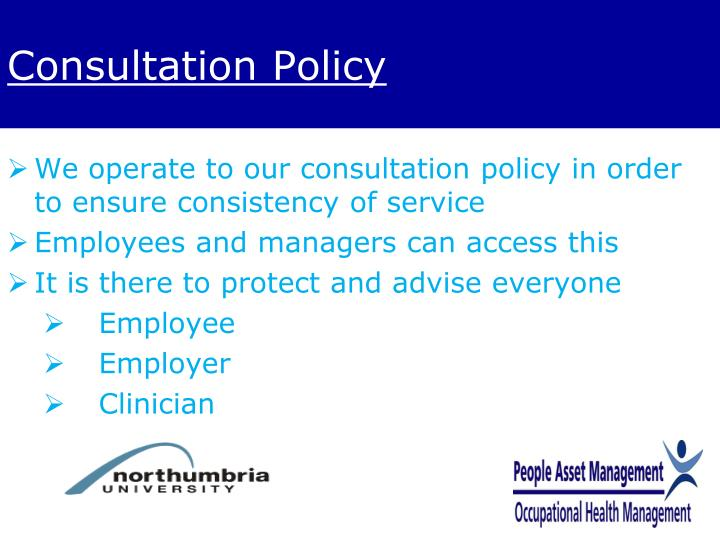 Consultation Policy