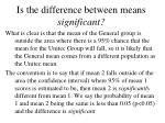 is the difference between means significant