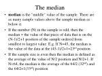 the median