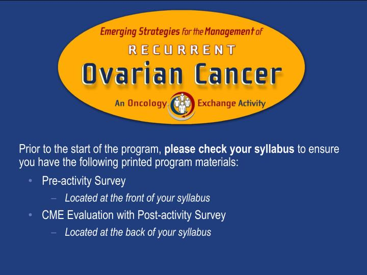 an oncology exchange activity n.