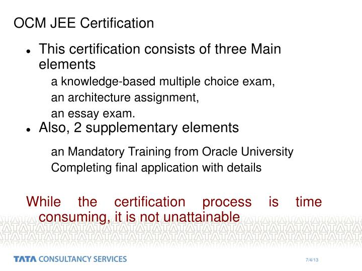 OCM JEE Certification