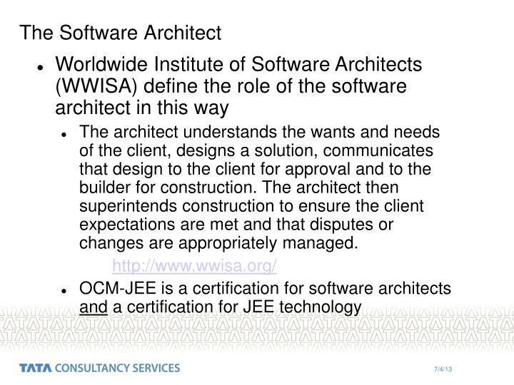 The Software Architect