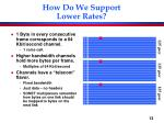 how do we support lower rates