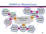 sonet as physical layer