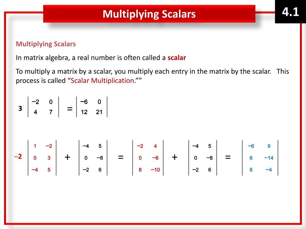 PPT - Algebra 2 Chapter 4 Notes Matrices & Determinants