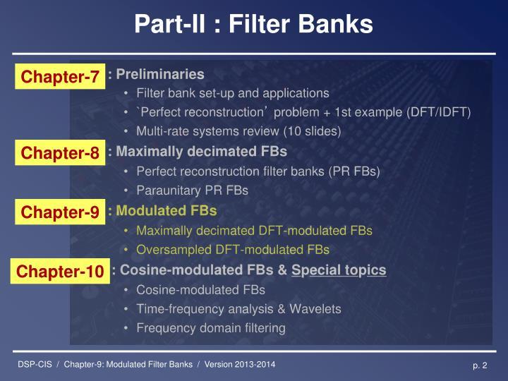 Part ii filter banks
