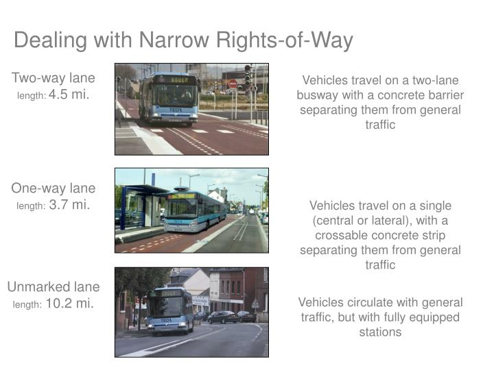 Dealing with Narrow Rights-of-Way