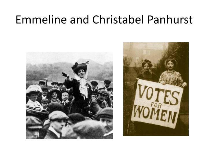 Emmeline and Christabel Panhurst