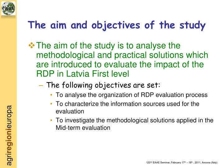 objectives of the studythe following objectives The concept of network of objectives implies that once objectives are established for every department and every individual in an organization  these subsidiary objectives should contribute to meet the basic objectives of the total organization.