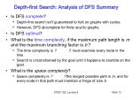 depth first search analysis of dfs summary