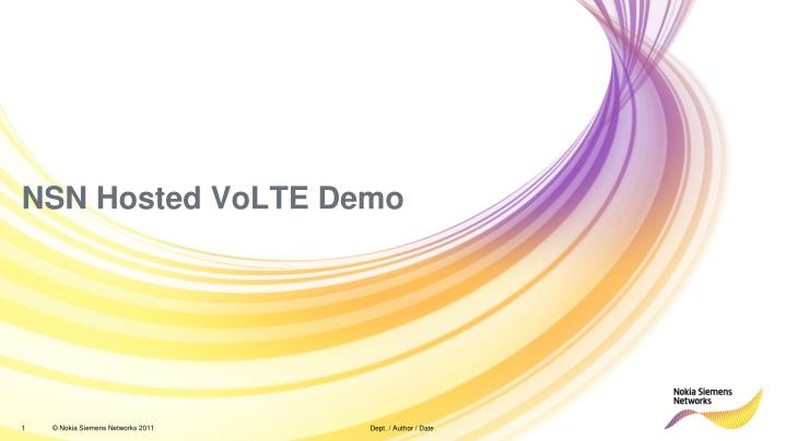 nsn hosted volte demo n.