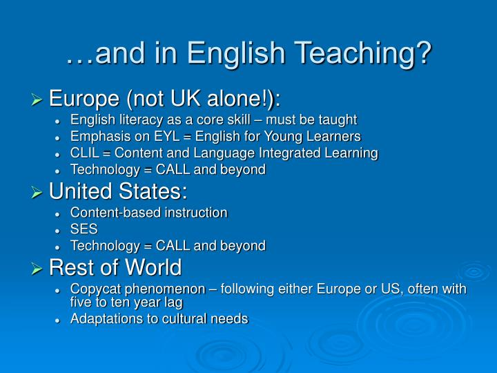 …and in English Teaching?
