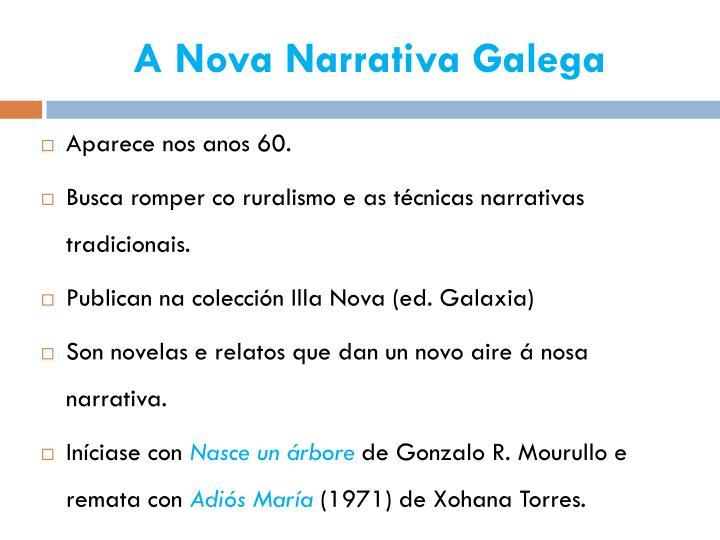 A nova narrativa galega