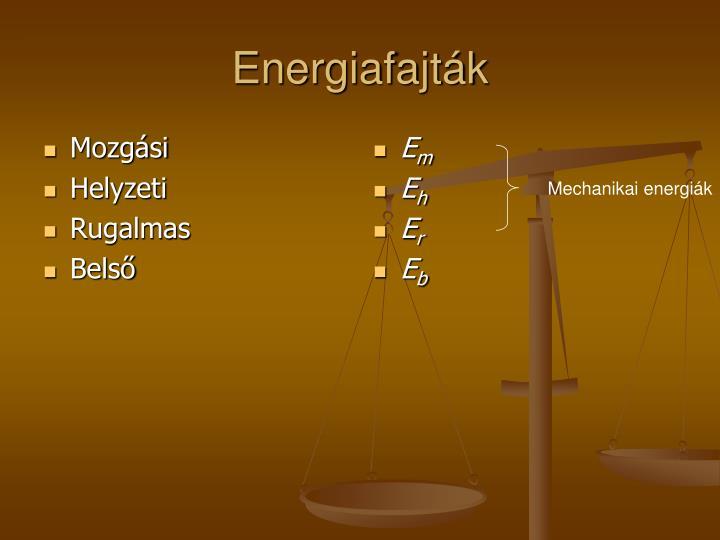 Energiafajt k