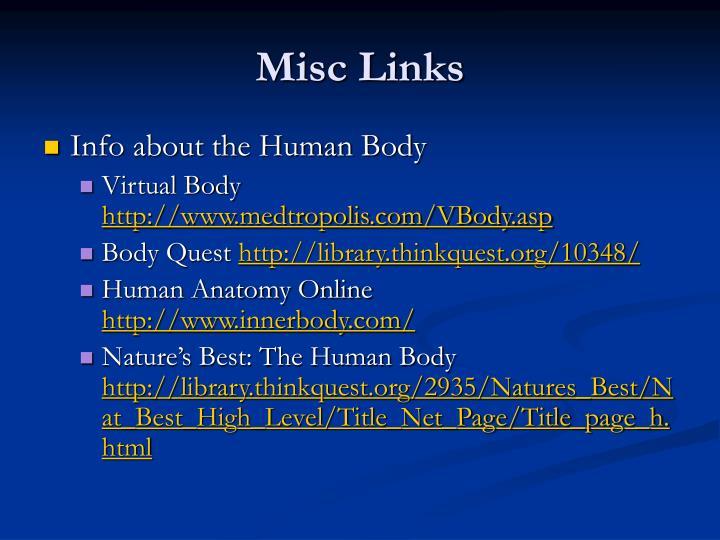 Misc Links