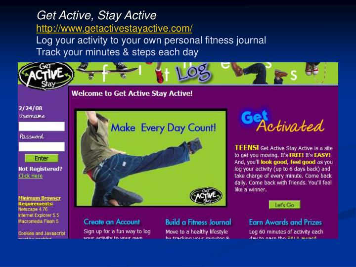 Get Active, Stay Active