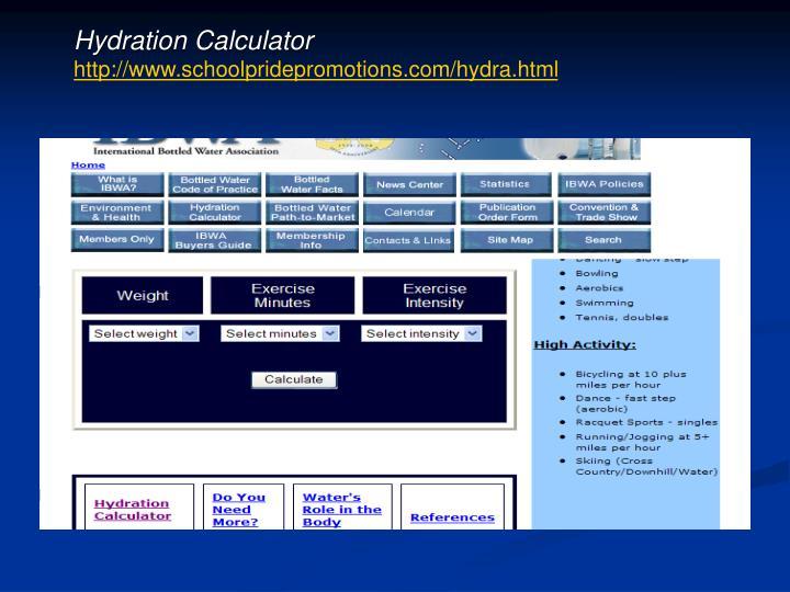 Hydration Calculator