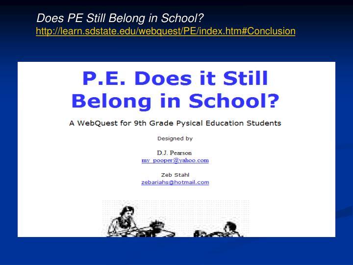 Does PE Still Belong in School?