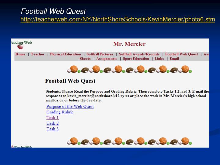 Football Web Quest
