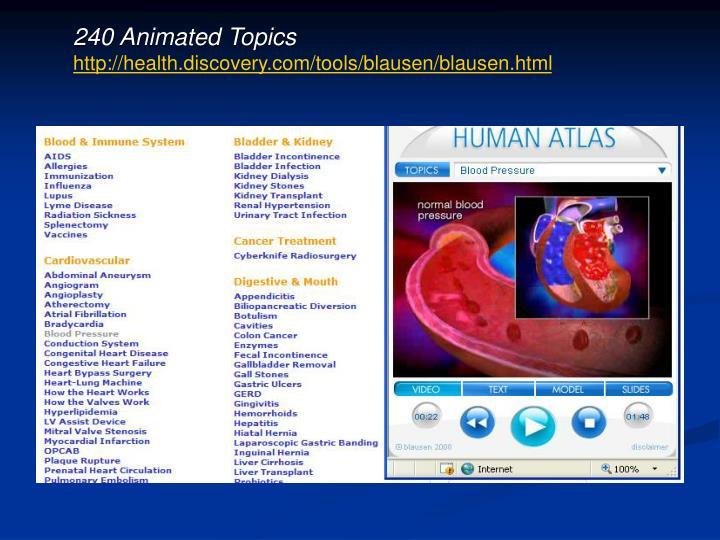 240 Animated Topics